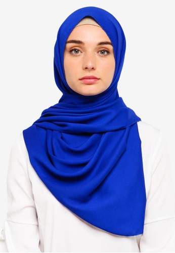 VERCATO blue Premium Luxe Satin Shawl 0999BAAE1852E8GS_1