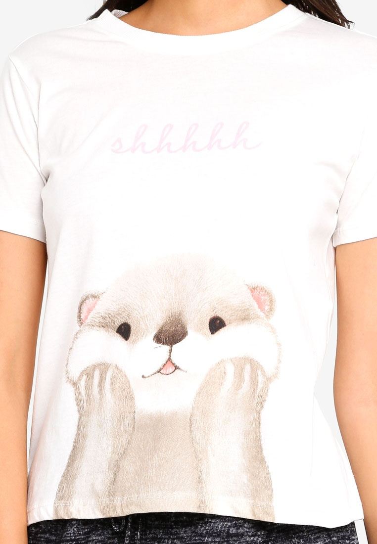 Beige shirt T 6IXTY8IGHT Otter T shirt Otter 6IXTY8IGHT nxCC0Svqw