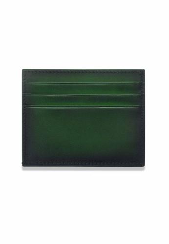 Crudo Leather Craft green Sen'zaltro Credit Card Holder - Vintage Green 727EBAC2E1229CGS_1