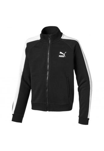 PUMA black Classics T7 Girls' Sweat Jacket 2A907KAC6E9F78GS_1