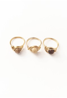 Earth Stackable Ring Set