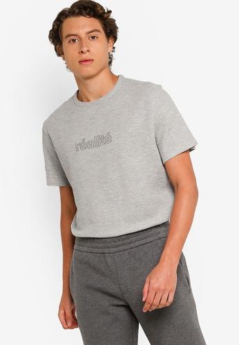 H&M grey Cotton Piqué T-Shirt 7EBD4AAB44E51CGS_1