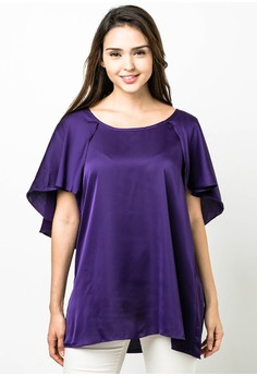 Plus Size Nachi Short Sleeves Blouse