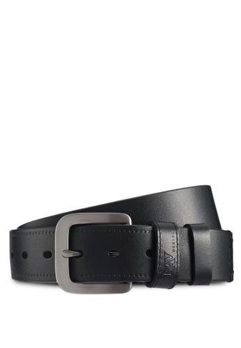 RAV Design black 40MM Leather Belt 935CFAC62553D3GS_1