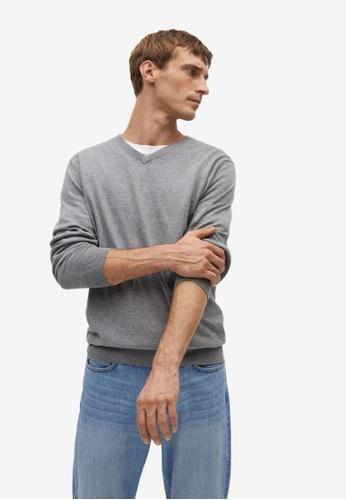 MANGO Man grey Cotton Cashmere-Blend Sweater C5EA5AA59FCF69GS_1