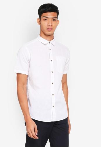 ESPRIT 白色 Woven Short Sleeve Shirt 51871AA2860081GS_1