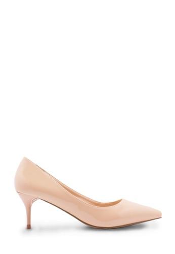 Sepatu Wanita Mid Heels Cream