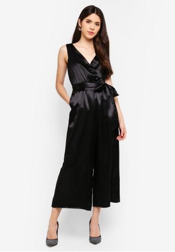 Goddiva black Culotte Jumpsuit C0339AABB087A9GS_1