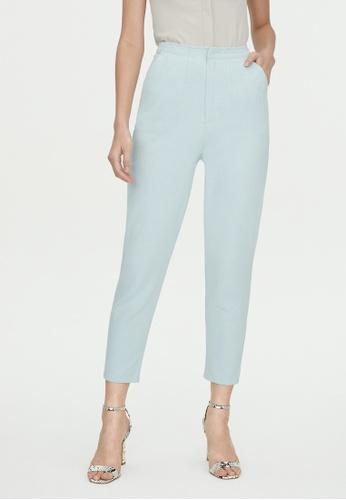 Pomelo blue Semi Pleat Denim Pants - Baby Blue C9338AAF963F6AGS_1