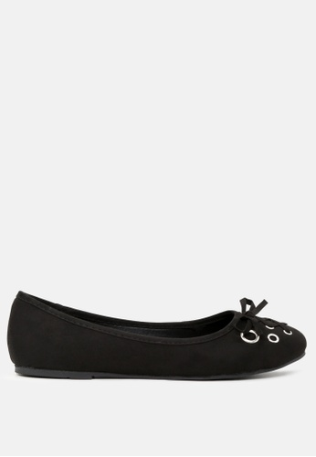 London Rag black Black Ballerina Flats with Bow 0F2F0SHF3924D3GS_1