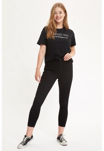 DeFacto 黑色 High Waist Super Skinny Jeans 52DFFAAADD1FF9GS_1