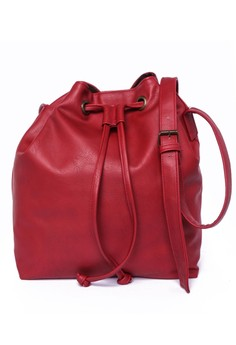 Altea Tussled Bucket Bag With Drawstring And Shoulder Strap