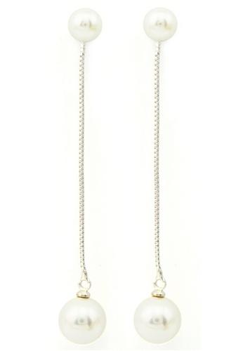 YOUNIQ silver YOUNIQ-Basic Korean Pearl Long Earring YO999AC93TIOMY_1