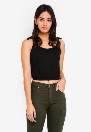 Cotton On black Lulu Sleeveless Waisted Top 45369AAA68D492GS_1