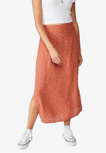 Cotton On brown 90s Slip Skirt B3F6BAAABB5F01GS_1