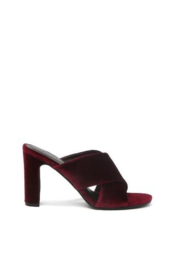 London Rag 紅色 London Rag 女士酒红色天鹅绒高跟凉鞋 61948SHA291E25GS_1