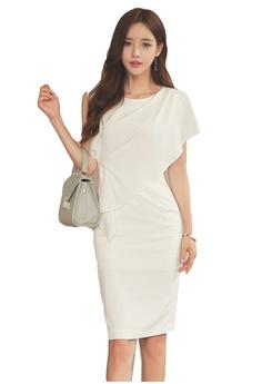 1e0dfd9a4fdf Sunnydaysweety white S S Elegant White One-Piece Dress UA040329  908E5AA8727BC1GS 1