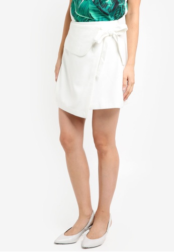ZALORA white Tie Wrapped Skirt F963BAA2564CB7GS_1