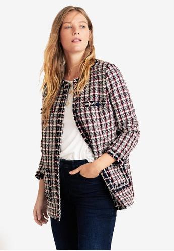 Shop Violeta by MANGO Plus Size Check Tweed Jacket Online on ZALORA  Philippines 4a7786d17182