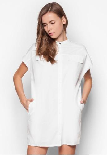 簡約襯衫連身裙zalora 心得, 服飾, 洋裝