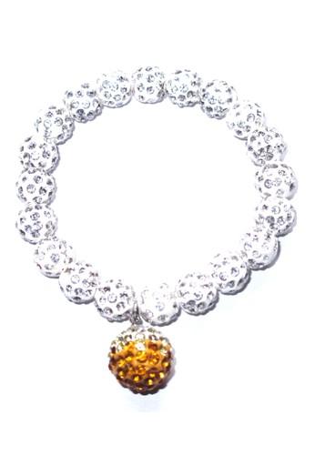 San Marco white and multi Dingle Dangle Ball Bracelet Yellow SA720AC0VW2QID_1