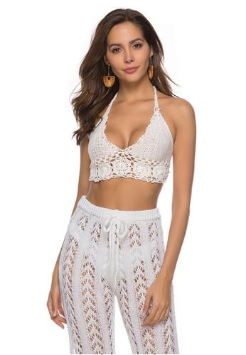 LYCKA white LTH4019-European Style Lady Bikini Top-White EC2B0US9240A9FGS_1