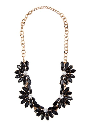 Zolace black and multi and gold Blooming Season Necklace ZO350AC46AMVMY_1