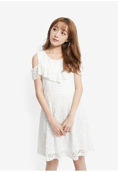 c88afa733a Psst... we have already received your request. Yoco. Cold Shoulder Lace  Dress