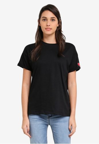 Something Borrowed black Heartbreaker Embroidered Tee F6B44ZZ211CD7FGS_1