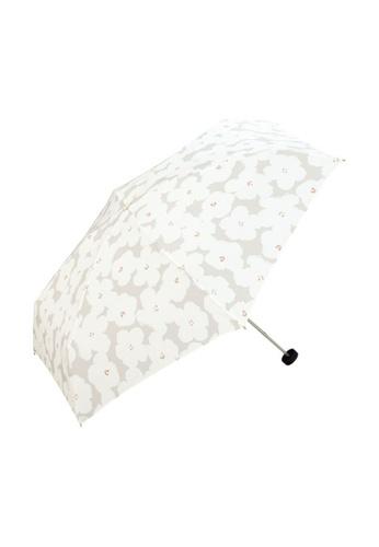 WPC white WPC Flower Print Mini Umbrella (Off White) E1C5CACBF7D6F8GS_1