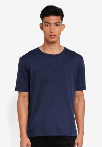 BOSS 海軍藍色 短袖印花T恤 682BDAAD4FB909GS_1