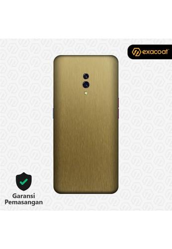 Exacoat Oppo Reno 3M Skins Titanium Series - Titanium Gold AC39BES2F19085GS_1