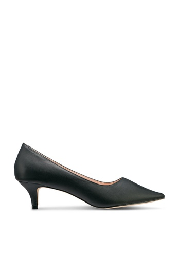 Nose 黑色 Pointy Toe Low Heel Pumps DD1CDSH60C60BBGS_1