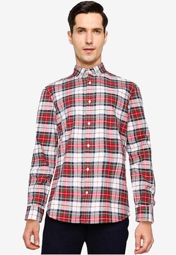 GAP 紅色 Long Sleeve Polo Shirt 5EE13AA68C85FFGS_1