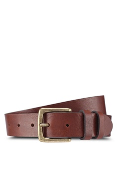 1f47e2ee08b388 MANGO Man brown Pebbled Leather Belt 4EF35ACB93F8C3GS 1