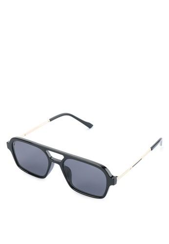 Urban State black Polarized Plastic Easy Rider Rectangular Sunglasses E89B0GL55FECADGS_1