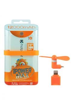 Powerbank 12000mAh with FREE Mini USB fan for Iphone 5/5s/6/6s/6+