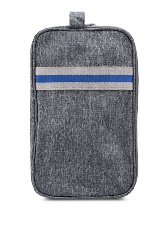Bagstationz grey Strap Design Lightweight Water-Resistant Travel Toiletries Pouch 84494ACF4C66B8GS_1