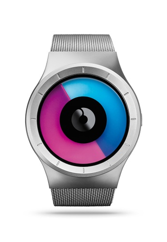 ZIIIRO pink and blue and silver Celeste Chrome Purple Watch 8456AAC3C3D04AGS_1