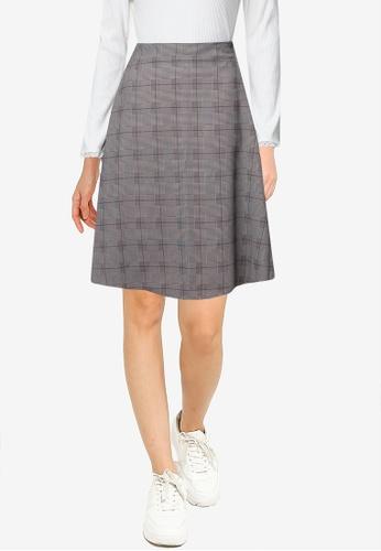 LOWRYS FARM brown Flared Skirt D0D5CAAF28194EGS_1