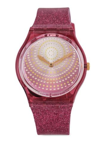 Swatch pink Chrysanthemum Watch 8DE38AC0D033BAGS_1