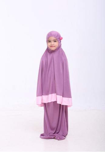 AN-NAJWA purple Annajwa Telekung Kids Aranda Wisteria Purple E6FE4KC3210DB6GS_1