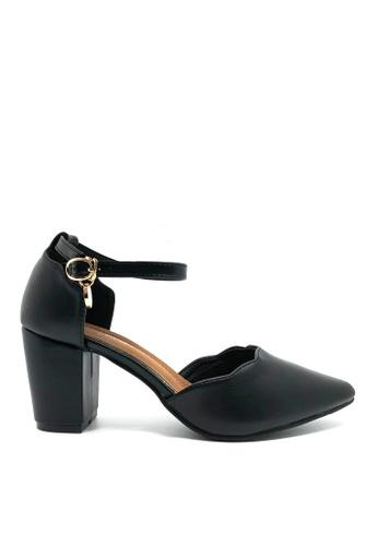 Twenty Eight Shoes 黑色 尖頭仿皮高踭鞋5611-15 097E8SH1CC0A0DGS_1