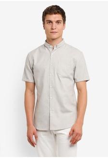 Buy mens fashion online zalora singapore turn up linen short sleeve shirt 42647aad490abdgs1 zalora stopboris Images