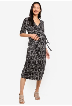 95660d90262 Dorothy Perkins Maternity Spot Plisse Wrap Dress HK  420.00. Available in  several sizes