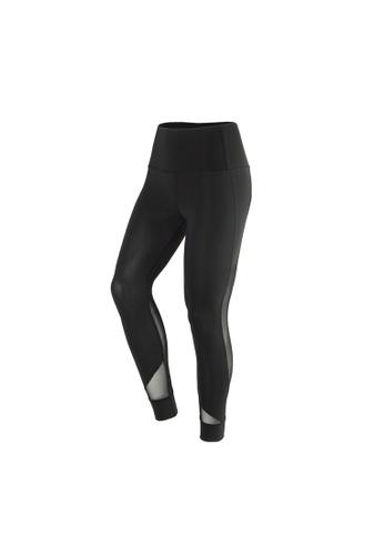 VIVIESTA SPORT black Airflow Mesh High Waist Gym Leggings 90BB8AA3412508GS_1