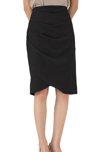 Sunnydaysweety black Korean High Waist Wrap Hip Skirt A21031205BK E3B68AA58C0344GS_1