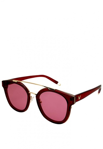 Sunglass Solutions red Sarah Sunglasses (See Me Wine) SU074GL0KAH1PH_1