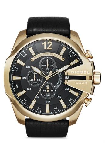 Diesel black Diesel Mega Chief Gold and Black Stainless Steel Watch DZ4344 DI095AC80MMDMY_1