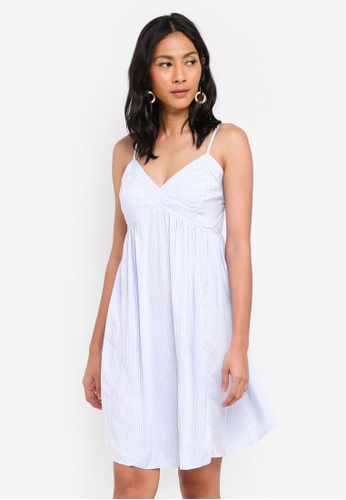 OVS white and blue Mini Camisole Dress 24145AA9869BB7GS_1